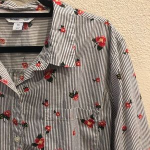 Old Navy Stripped Floral Button Up